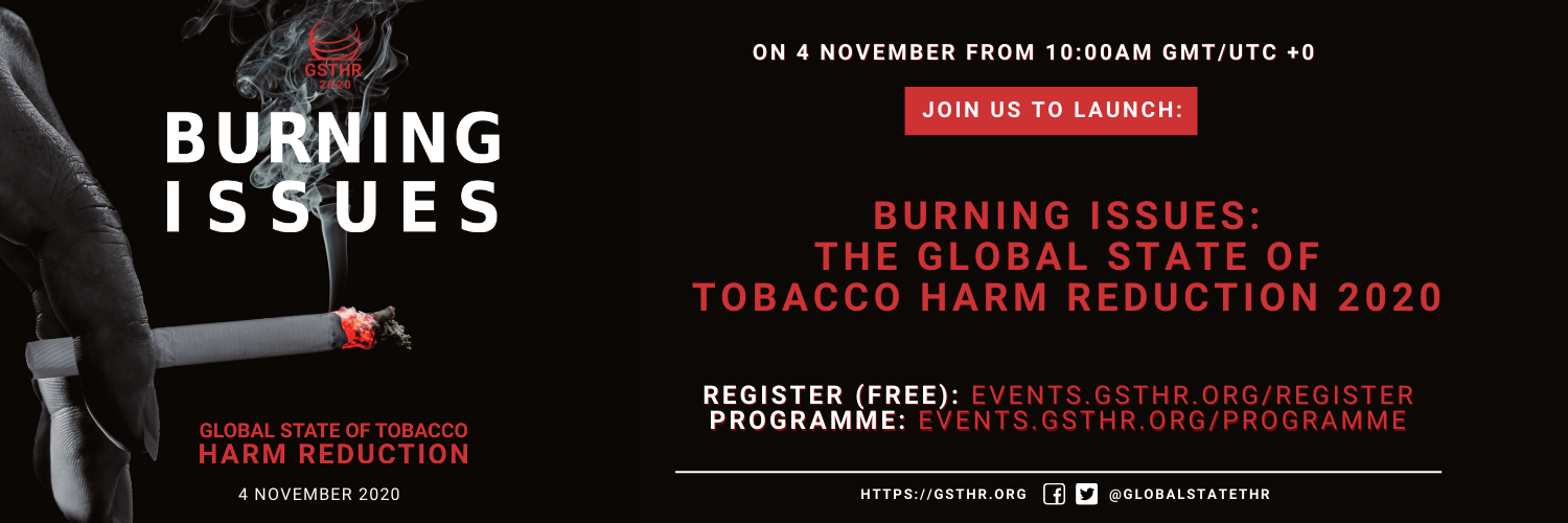 Burning Issues: new GSTHR report set to launch online with free open access event on Wednesday 4 November